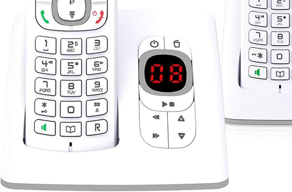 base de un teléfono inalámbrico con contestador