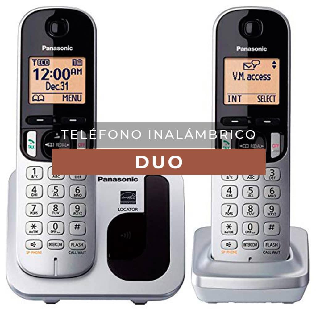 Teléfono inalámbrico dúo