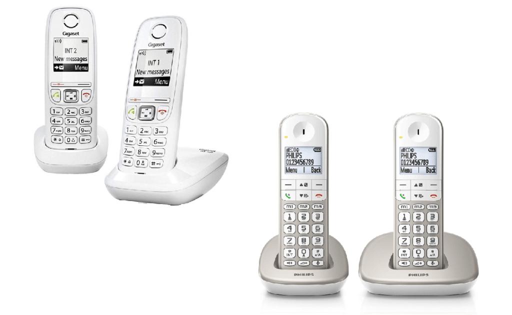 teléfono inalámbrico duo con manos libres