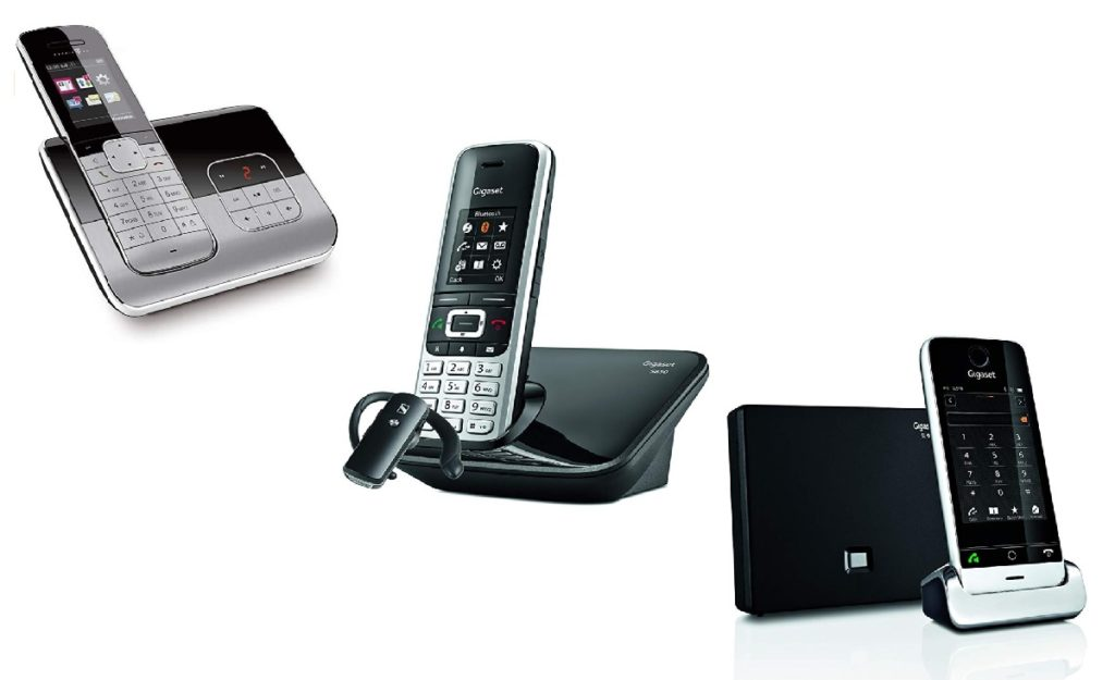 telefono inalambrico con bluetooth y auriculares conectados