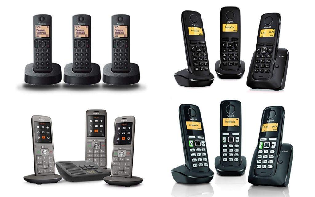 trio de telefones sem fio